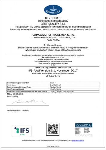ifs-certificatre